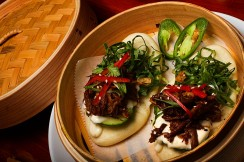 Pork buns at Palm Sugar, photographed in West Palm Beach.