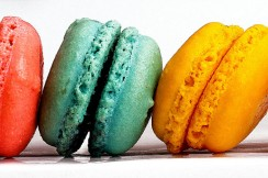 Photograph of macaroons from Le Macaron in Delray Beach, Florida.