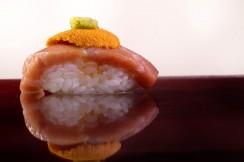 Close up photograph of sushi, shot at Imoto at Buccan, Palm Beach, Florida.