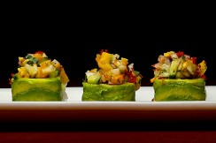 Photograph of sushi roll from RA sushi in Palm Beach Gardens, Florida.