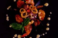 Photo of seafood salad at Italian Restaurant in South Florida.