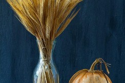 pumpkin in fall scene