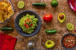 Stylized picture of guacamole